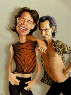 Mick Jagger and Keith Richards giclee print on canvas, from original