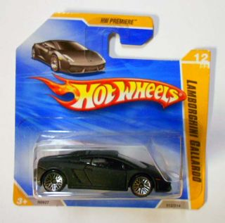 Hot Wheels 2010 HW Premiere 12 Lamborghini Gallardo Black w WSPs Mint