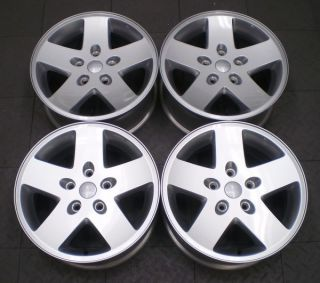 9074 Jeep Wrangler Rubicon 17 Factory OE Alloy Wheels Rims G4