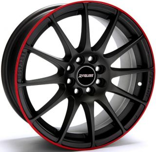 Redline 130 17x8 0 Wheels 5x100 114 3 ET40 Rims Matte Black