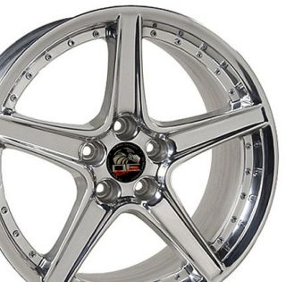 18x10 Rear Polished Saleen Wheels Rims Fit Mustang® GT