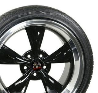 17 9 10 5 Black Bullitt Bullet Wheels Nexen Tires Rims Fit Mustang