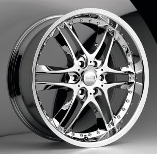 22 inch Akuza Blade Chrome Wheels Rims 6x135 Ford F150
