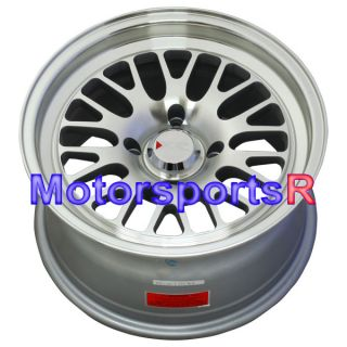 Machine Silver Wheels Rims Deep Dish Stance 4x4 5 4x114 3 Honda