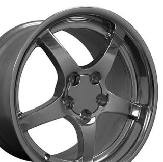 18 17 Polished Wheels Rims Fit Corvette C4 C5 ZR1 Z06