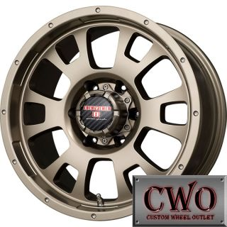 17 Bronze Level 8 Guardian Wheels Rims 6x139 7 6 Lug Chevy GMC 1500