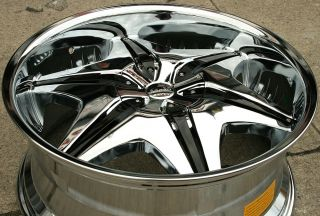 Akuza Big Papi 712 22 Chrome Rims Wheels Chevrolet Suburban 88 Up