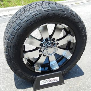 20 Black Ultra Wheels 33 Nitto Terra Tire Chevy Silverado GMC 2500