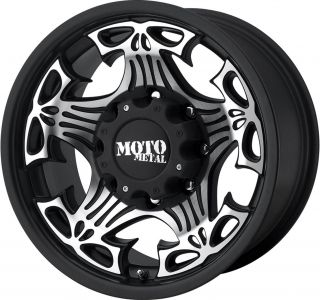 18x9 Moto Metal Black Skull Wheels Rims Jeep Wrangler JK Rubicon 4x4