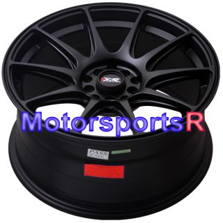 XXR 527 Flat Black Concave Rims Wheels 5x114.3 07 Infiniti G35 Sedan
