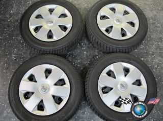 Four 2009 11 Nissan Versa Factory 14 Wheels Hubcaps Tires Rims 62537