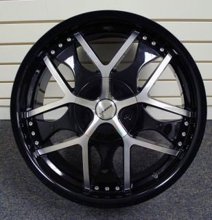 20inch Wheels Black Machined Rims Limited Crossed 350