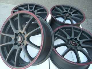 17 Rims Matt Black Prelude Fiat 500 Sentra Lancer Altima Accord Cube