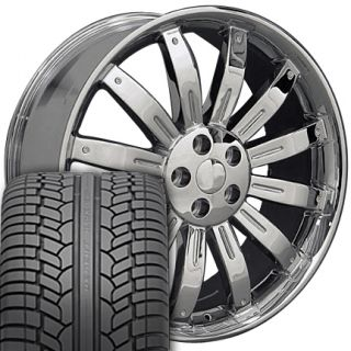 22 Chrome Wheels Set of 4 Rims 4 Tires Fit Range Land Rover HSE Sport