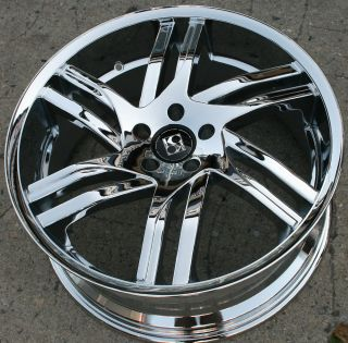SPLINE 20 CHROME RIMS WHEELS JAGUAR X Type X TYPE/ 20 X 8.5 5H +38