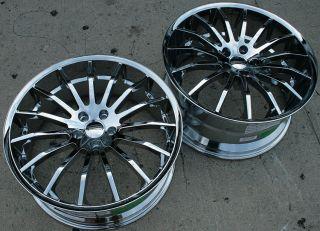 Giovanna Martuni 20 Chrome Rims Wheels 350Z Staggered