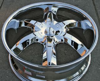 Akuza Lucuna 760 22 Chrome Rims Wheels Dodge RAM 1500 2WD 4WD