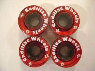 Cadillac Skateboard Wheels 56mm 78A Trans Red