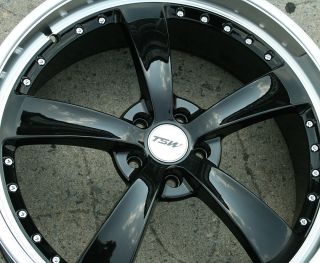 TSW STRIP 22 BLACK RIMS WHEELS FORD FUSION FLEX MUSTANG / 22 X 9.0 5H