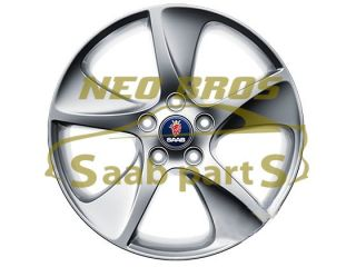 SAAB 9 3 9 5 GENUINE 17 INCH 5 SPOKE TURBINE ALLOY WHEEL, NEW, ALU 88