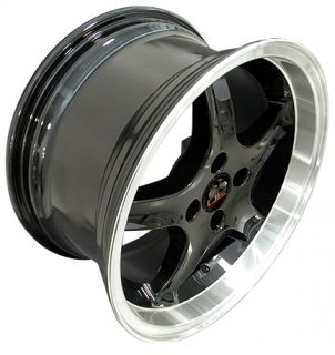 17 8 9 Black Cobra Wheels Rims Fit Mustang® 79 93
