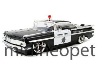 Jada 1959 Chevy Impala 1 24 Highway Patrol Police Car