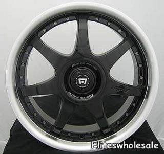 18x7 5 Black Wheels Rims Motegi FF7 5x100 5x4 5