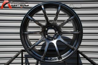 18X9 ROTA G FORCE 5X100 +35 HYPER BLACK WHEEL FITS JETTA GOLF TT WRX