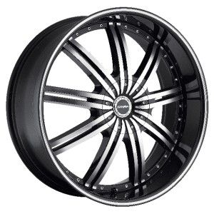24 inch Strada Nove Black Wheels Rims 5x115 300C Charger Magnum
