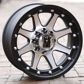 18 inch Black Wheels Rims KMC XD 798 Ford F250 350 Superduty 8 Lug