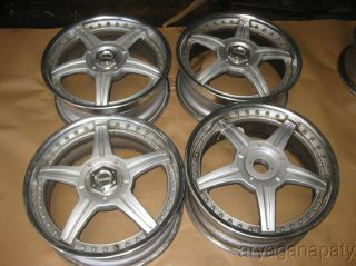 Racing Hart MS 2 Piece Wheels Rims 17Set Need Repairs 4x100 4x114 3