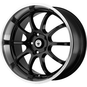 New 18X8 5 114.3 Lightning Gloss Black Machined Lip Wheels/Rims
