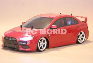 Tamiya 1 10 RC Car Mitsubishi Lancer Evolution Drift L E D New Ready