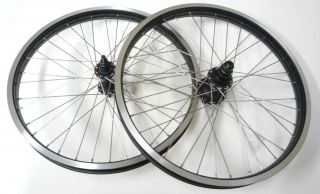 24 x 2.125 BMX Front & Rear Bike Wheels Rims 14mm 9T Sealed Bearing