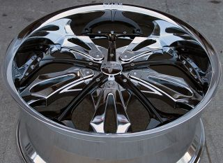 RVM 130 22 Chrome Rims Wheels GMC Acadia Traverse