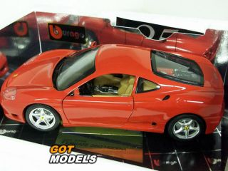 Ferrari 360 Modena 1 18 Scale Model Car by Burago in Yellow COD3368