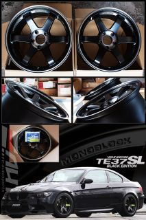 Rays TE37SL Black Edition Wheel Rim 18 18x9 5 18x10 5 BMW E82 1M E90