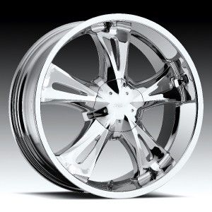 22 inch Milanni Bitchin Chrome Wheels Rims 5x112 24
