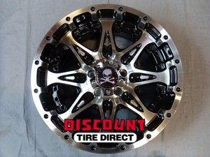 17x9 5x114 3 5 114 3 Buckshot Black Machined Face Wheels Rims