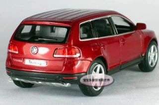 New 1 38 Volkswagen Touareg Alloy Diecast Model Car Claret Red B147D