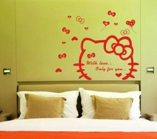 ZG 142 Pretty Hello Kitty Mural Decals Decor Home Removable Wall