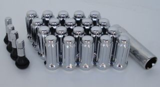16 Chrome Wheels Rims Spline Lug Nuts Dodge RAM 1500 Truck 20 Lug