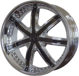 20 Velocity VW 550 Chrome Wheels w Black Inserts Rims