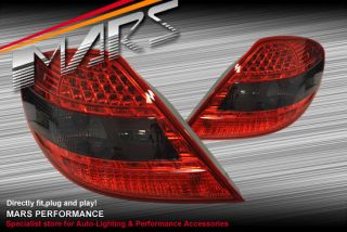 Smoked Red LED Tail Lights for Mercedes Benz SLK R171