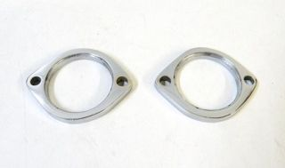 CHROME EXHAUST FLANGE SET FOR HARLEY EVOLUTION EVO BIG TWINS & EVO