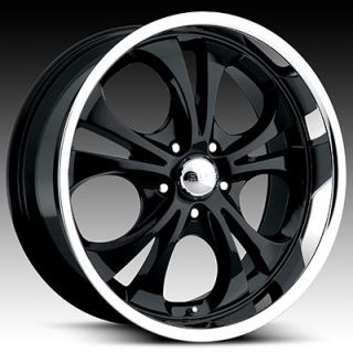 20 x8 5 Boss 304 3045 Black Chrome Wheels Rim 5 6 8 Lug