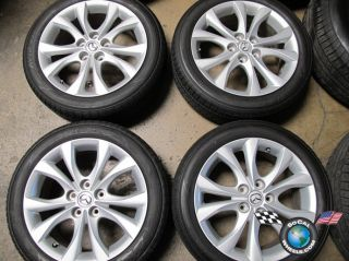 four 2010 Mazda 3 Factory 17 Wheels Tires OEM Rims Mazda 5 64929