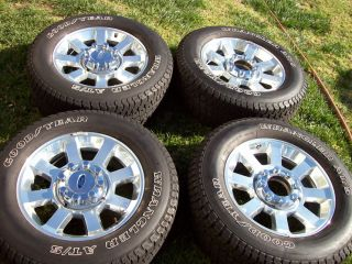 20 Factory Chrome Ford F 250 F 350 Superduty Wheels Tires King Ranch