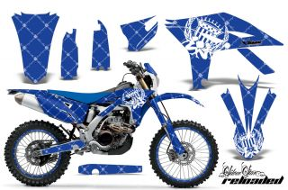 AMR RACING GRAPHIC DECAL KIT & NUMBER PLATE BACKGROUNDS YAMAHA WR450