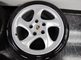 Set of 2000 Porsche Carrera 911 Wheels with Tires